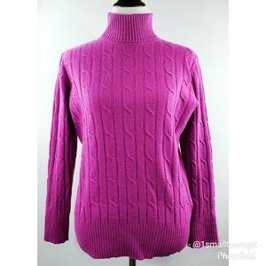L.L. Bean cable knit turtle neck sweater L
